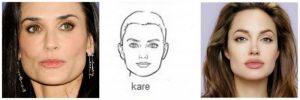 kare yüz şekli için saç modelleri nasıl olmalı