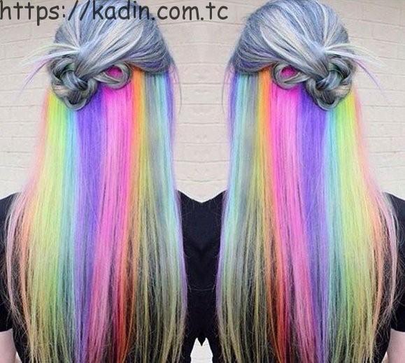 2017 modası renkli saçlar