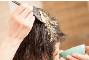 yaz ayları için saç maskesi