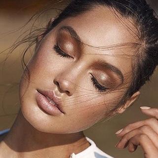 bronz tene göz makyajı nasıl yapılır