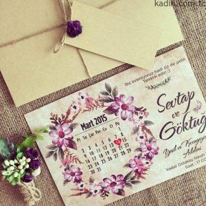 en güzel düğün davetiyesi modelleri 4