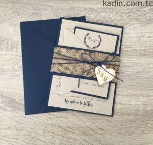 en güzel düğün davetiyesi modelleri 9