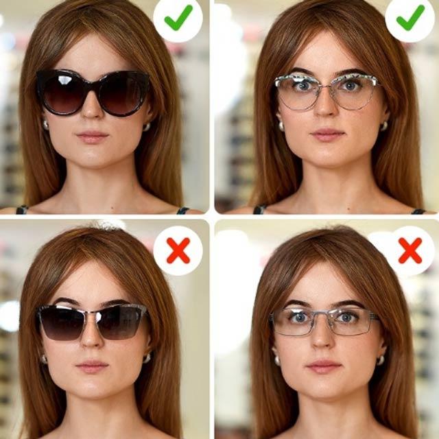 kare yüzler için gözlük seçimi