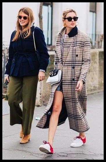 2018 - 2019 kadın ekose modası