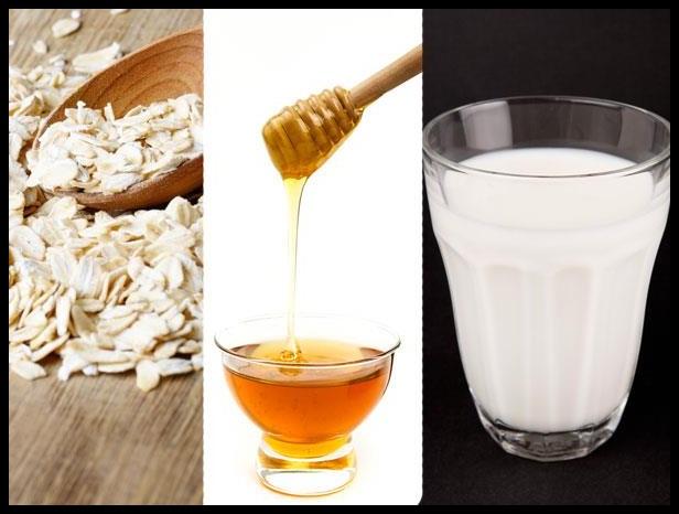 Yulaf Gevreği, Süzme Bal ve Doğal Süt ile Cilt Bakımı