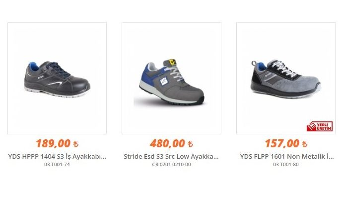 İş Ayakkabısı Fiyatları ve Modelleri